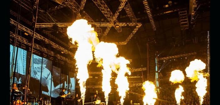 Piromuzički vatromet na bini