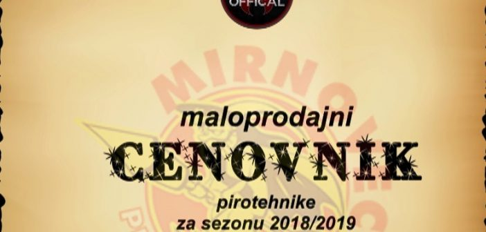 Cenovnik proizvoda za sezonu 2018/2019